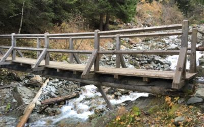 Wanderung zur Brücke über den Kohltobel